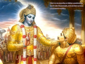 Is The Gita a Book of Violence ?-Lord-Krishna-Saying-Geeta
