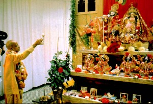 Yoga: Practice for the Modern Age-SP puja-to-Radha-Gokulananda