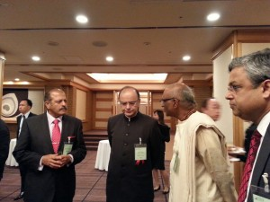 Akshaya Patra Chairman, Sri Madhu Pandit Dasa in conversation with the Honourable Finance Minister of India, Mr. Arun Jaitley