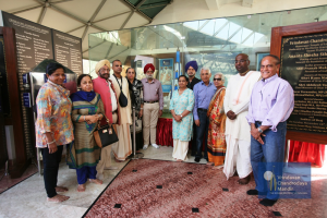 5. Mr. Tulsi and his family infront of the temple model