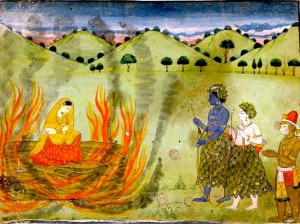 Agni-Pariksha of Mother Sita