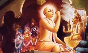 Lord Chaitanya Accepts Prasdam