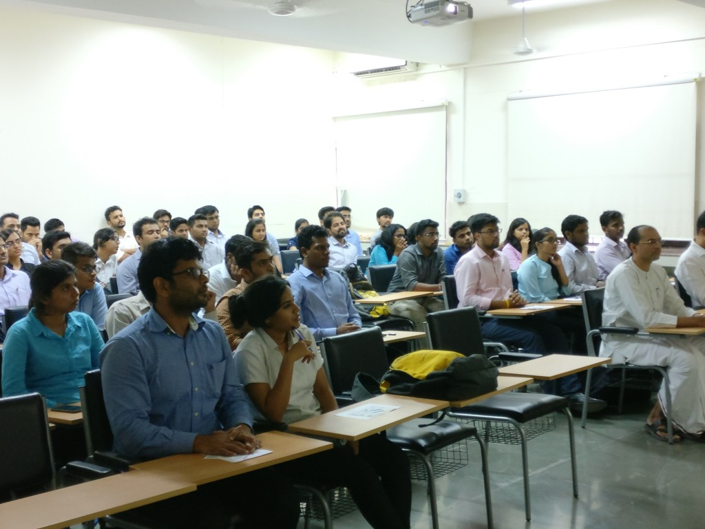 Students Listen to Sundeep Talwar