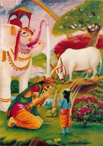 34 King Indra from the heavenly planet appeared before Krsna from a secluded place p180 copy