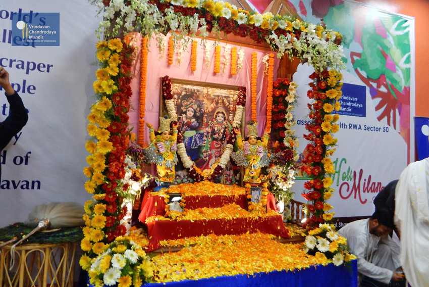 Flower decorated altar