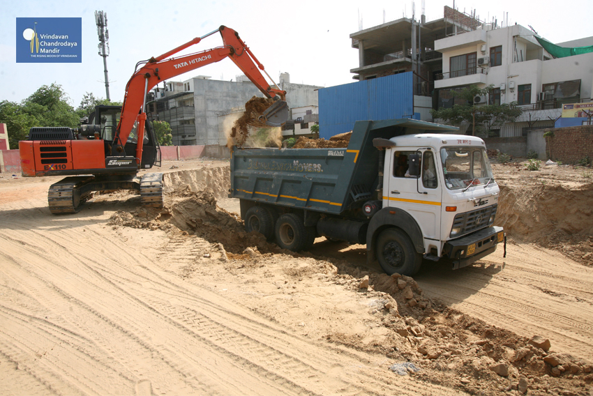 Radharaman Mandir Construction Site