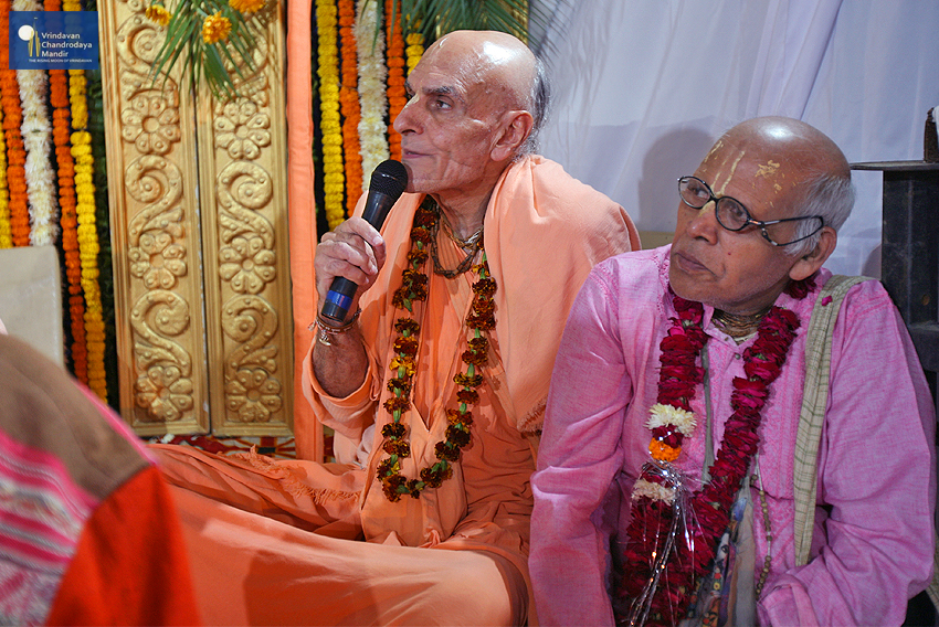Senior devotees graced the occasion
