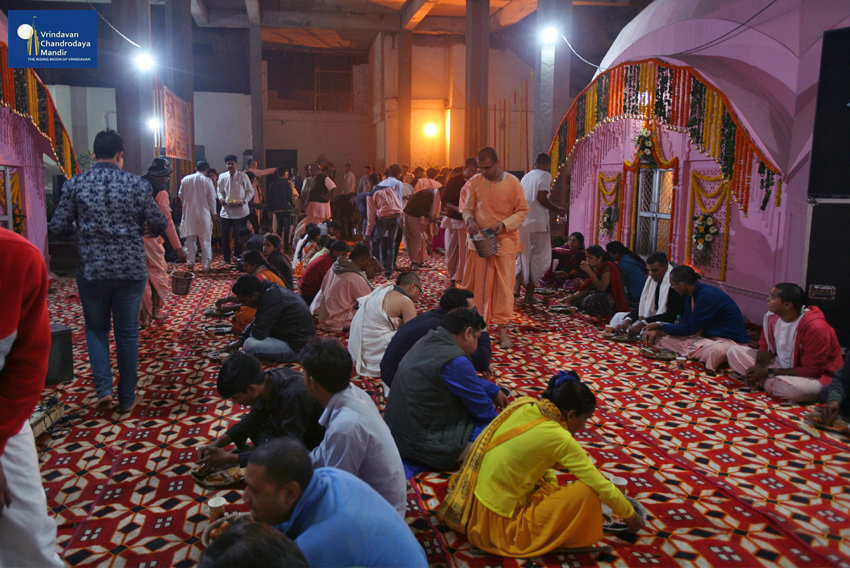 Prasadam Distribution at Sri Radha Damodar