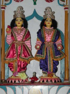 Goura - Gadadhar, worshipable Deities of Bhaktivinoda Thakur in Godrumadvipa (Navadvipa)