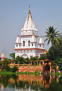 The temple at CaitanyaMahaprabhu's birthplace in Mayapur established by Bhaktivinoda Thakur.